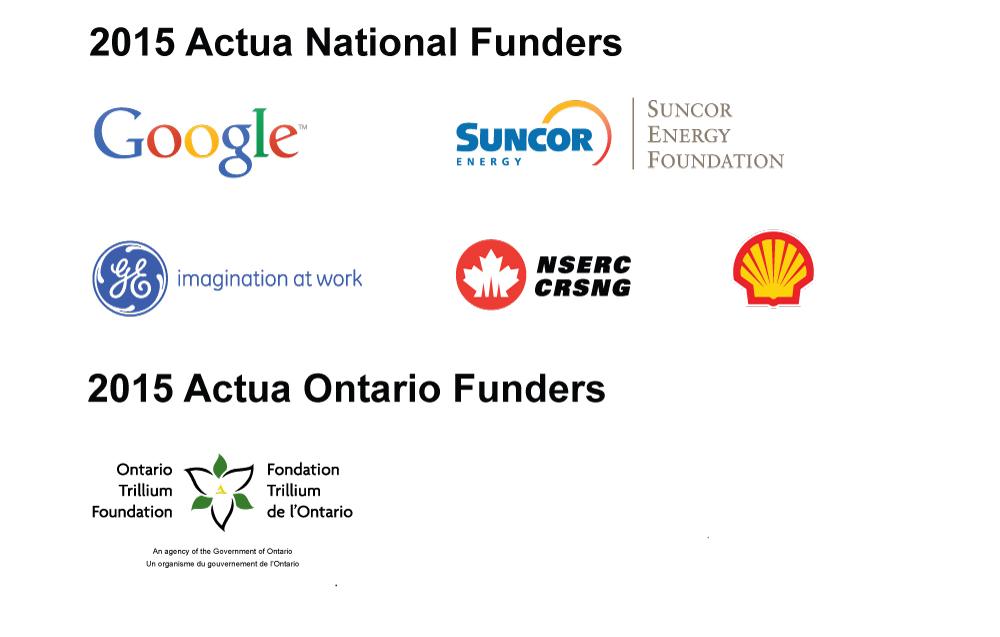 Actua Funders