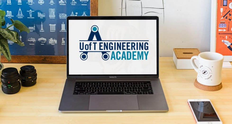 utea logo on laptop screen
